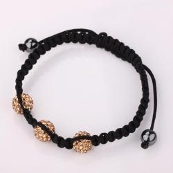 Vienna Jewelry Pave Swarovksi Elements Style Bracelet- Light Citrine - Thumbnail 0