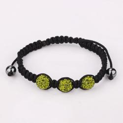 Vienna Jewelry Pave Swarovksi Elements Style Bracelet-Dark Emerald - Thumbnail 0