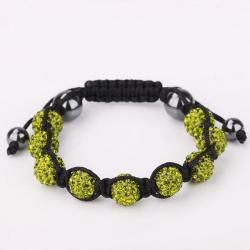 Vienna Jewelry Hand Made Eight Stone Swarovksi Elements Bracelet- Light Emerald - Thumbnail 0
