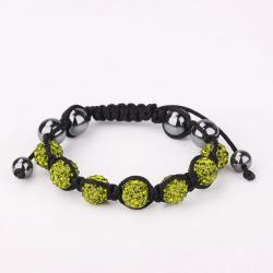 Vienna Jewelry Hand Made Six Stone Swarovksi Elements Bracelet- Light Emerald - Thumbnail 0