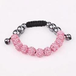 Vienna Jewelry Hand Made Eleven Stone Swarovksi Elements Bracelet- Vibrant Coral - Thumbnail 0