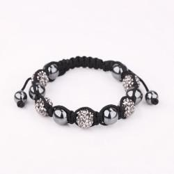 Vienna Jewelry Hand Made Bracelet Stone and Onyx Crystal - Thumbnail 0