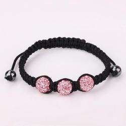 Vienna Jewelry Pave Swarovksi Elements Style Bracelet-Coral - Thumbnail 0