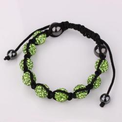 Vienna Jewelry Hand Made Eight Stone Swarovksi Elements Bracelet- Bright Emerald - Thumbnail 0