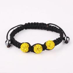 Vienna Jewelry Pave Swarovksi Elements Style Bracelet-Citrine - Thumbnail 0