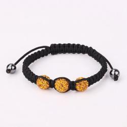 Vienna Jewelry Pave Swarovksi Elements Style Bracelet- Orange Zircon - Thumbnail 0