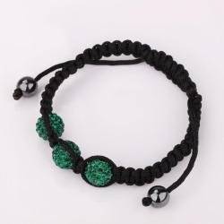 Vienna Jewelry Pave Swarovksi Elements Style Bracelet- Royal Emerald - Thumbnail 0