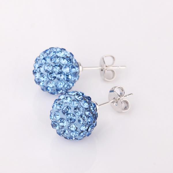 Vienna Jewelry Vivid Royal Saphire Swarovksi Element Crystal Stud Earrings