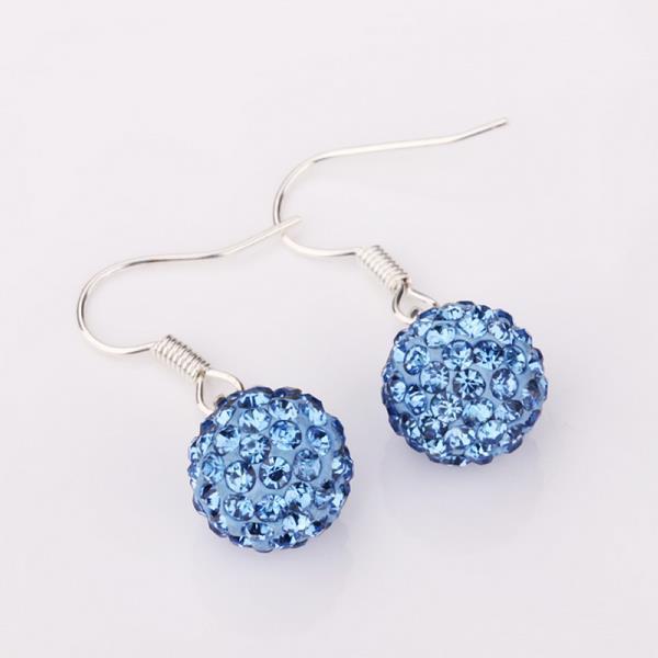 Vienna Jewelry Light Saphire Swarovksi Element Crystal Drop Earrings