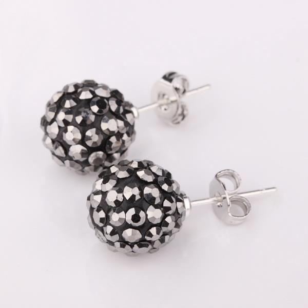 Vienna Jewelry Vivid Royal Onyx Swarovksi Element Crystal Stud Earrings