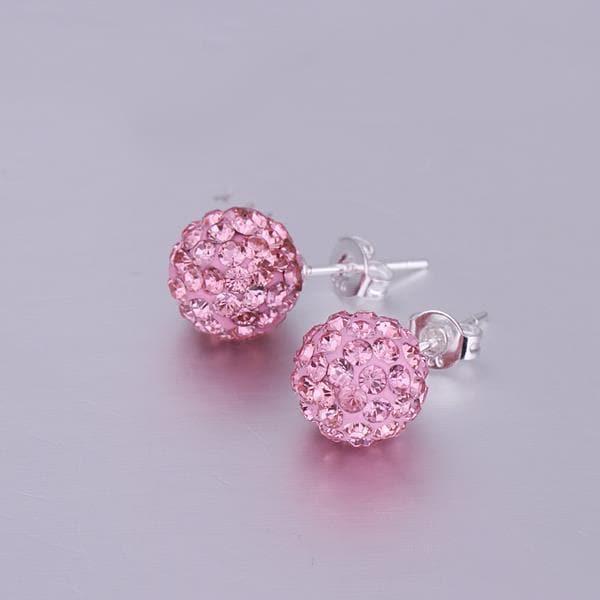 Vienna Jewelry Vivid Dark Swarovksi Element Coral Stud Earrings
