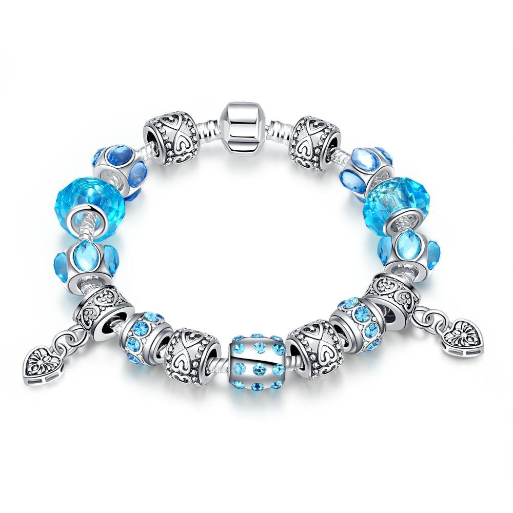 Vienna Jewelry Aruba Aqua Blue Bracelet