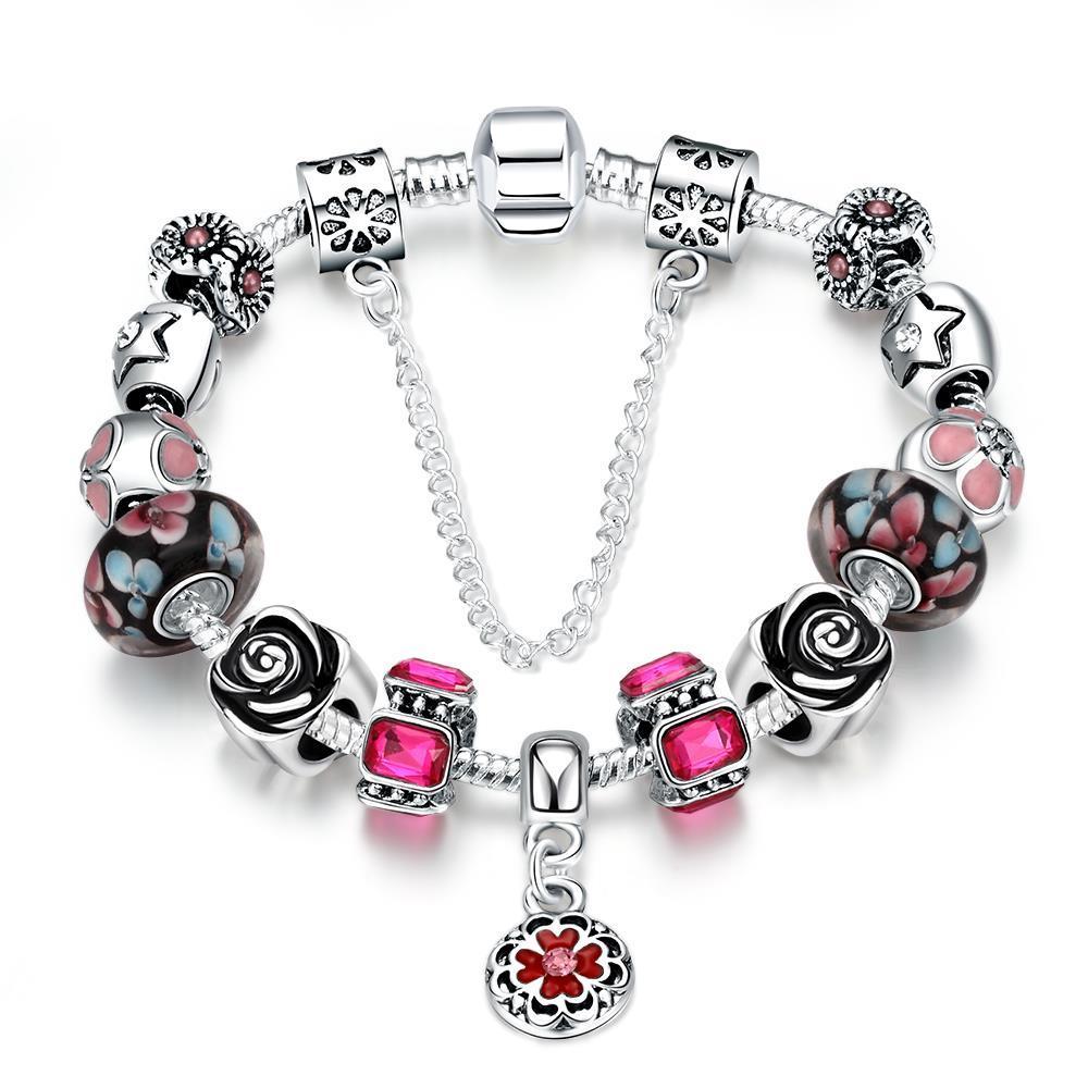Vienna Jewelry Light Pink Wave Bracelet