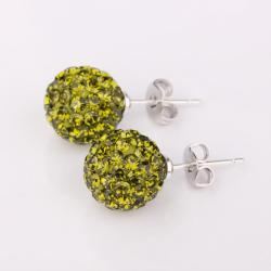 Vienna Jewelry Vivid Dark Emerald Swarovksi Element Crystal Stud Earrings - Thumbnail 0