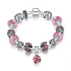Vienna Jewelry 50 Shades of Pink Bracelet - Thumbnail 0