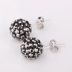 Vienna Jewelry Vivid Royal Onyx Swarovksi Element Crystal Stud Earrings - Thumbnail 0