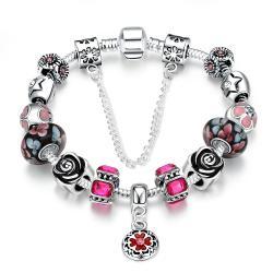 Vienna Jewelry Light Pink Wave Bracelet - Thumbnail 0