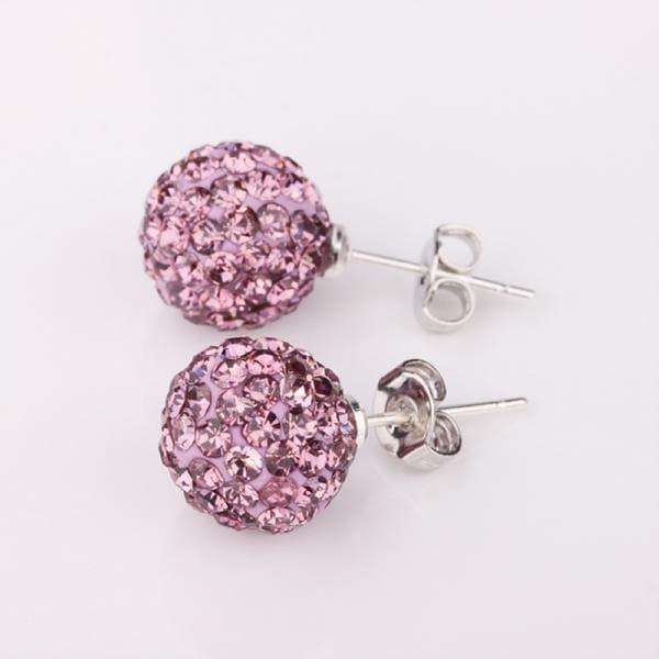 Vienna Jewelry Vivid Light Coral Swarovksi Element Crystal Stud Earrings