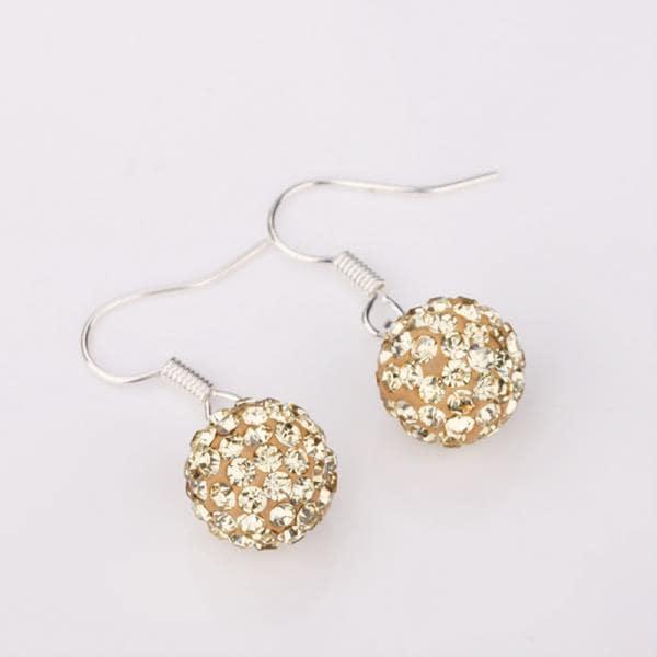 Vienna Jewelry Dark Champagne Swarovksi Element Crystal Drop Earrings