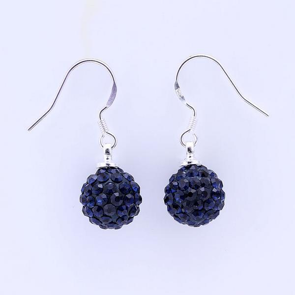 Vienna Jewelry Vivid Dark Swarovksi Element Saphire Drop Earrings