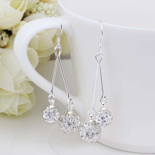 Vienna Jewelry Swarovksi Element Drop Earrings-Crystal