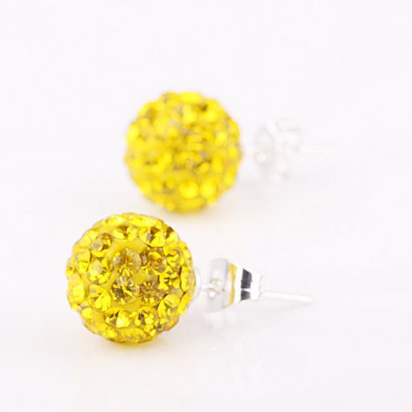 Vienna Jewelry Vivid Light Swarovksi Element Yellow Citrine Stud Earrings