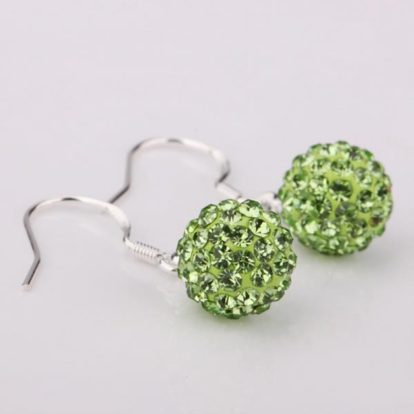 Vienna Jewelry Vivid Light Swarovksi Element Emerald Drop Earrings