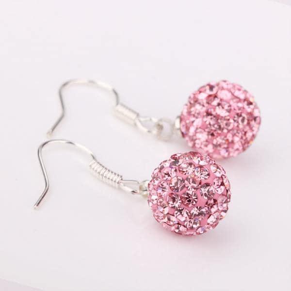 Vienna Jewelry Vivid Coral Swarovksi Element Crystal Drop Earrings