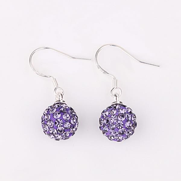 Vienna Jewelry Vivid Light Swarovksi Element Lavender Drop Earrings
