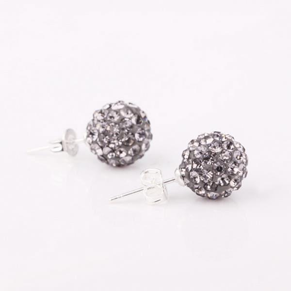 Vienna Jewelry Vivid Light Swarovksi Element Onyx Stud Earrings