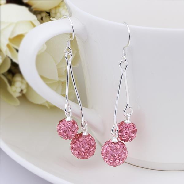 Vienna Jewelry Swarovksi Element Drop Earrings-Bright Coral