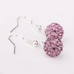 Vienna Jewelry Light Coral Swarovksi Element Crystal Drop Earrings - Thumbnail 0