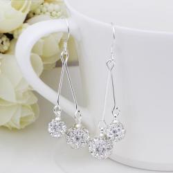 Vienna Jewelry Swarovksi Element Drop Earrings-Crystal - Thumbnail 0