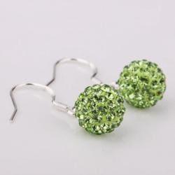 Vienna Jewelry Vivid Light Swarovksi Element Emerald Drop Earrings - Thumbnail 0