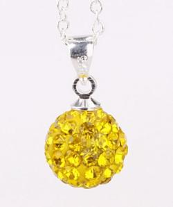 Vienna Jewelry Solid Austrian Crystal Element Pendant-Bright Light Yellow Citrine