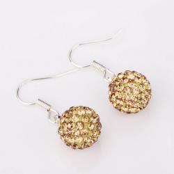 Vienna Jewelry Vivid Champagne Swarovksi Element Crystal Drop Earrings - Thumbnail 0