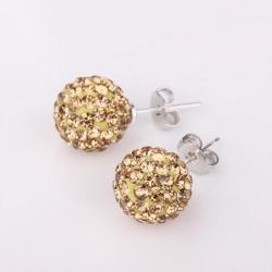Vienna Jewelry Vivid Royal Citrine Swarovksi Element Crystal Stud Earrings - Thumbnail 0