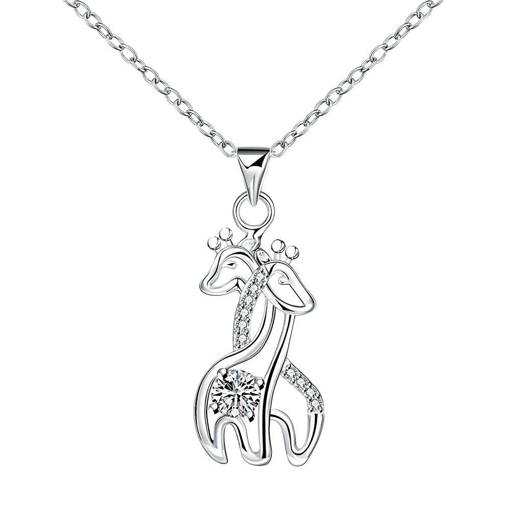 Vienna Jewelry Loving Horses Pendant Necklace