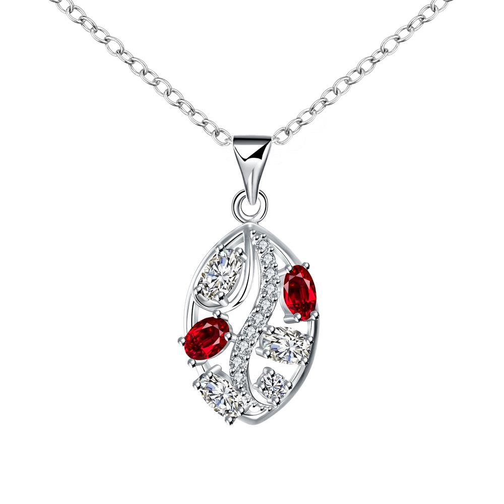 Vienna Jewelry Trio-Ruby Jewels Crystal Lining Drop Necklace