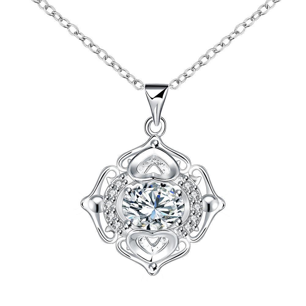 Vienna Jewelry Petite Crystal Stone Pendant Drop Necklace