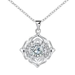 Vienna Jewelry Petite Crystal Stone Pendant Drop Necklace - Thumbnail 0