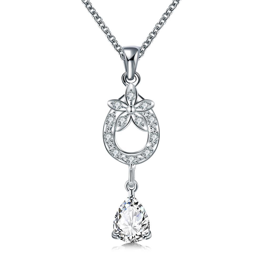 Vienna Jewelry Crystal Stone Petite Dangling Gem Necklace