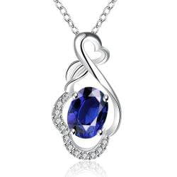 Vienna Jewelry Mock Sapphire Infinite Loop Drop Necklace - Thumbnail 0