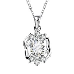 Vienna Jewelry Blossoming Crystal Pendant Dangling Necklace - Thumbnail 0