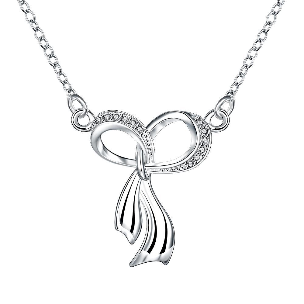Vienna Jewelry Dangling Infinite Emblem Drop Necklace
