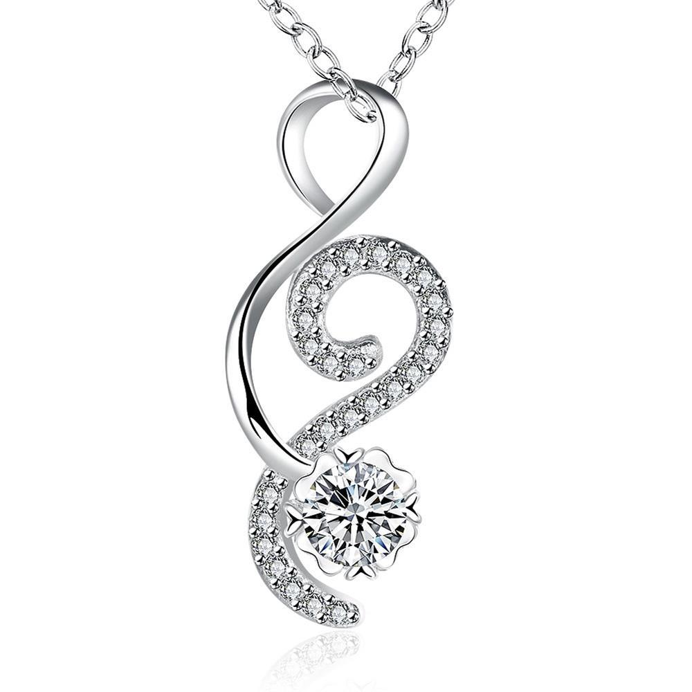 Vienna Jewelry Open Ended Heart Crystal Stone Drop Necklace