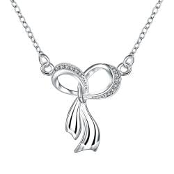 Vienna Jewelry Dangling Infinite Emblem Drop Necklace - Thumbnail 0