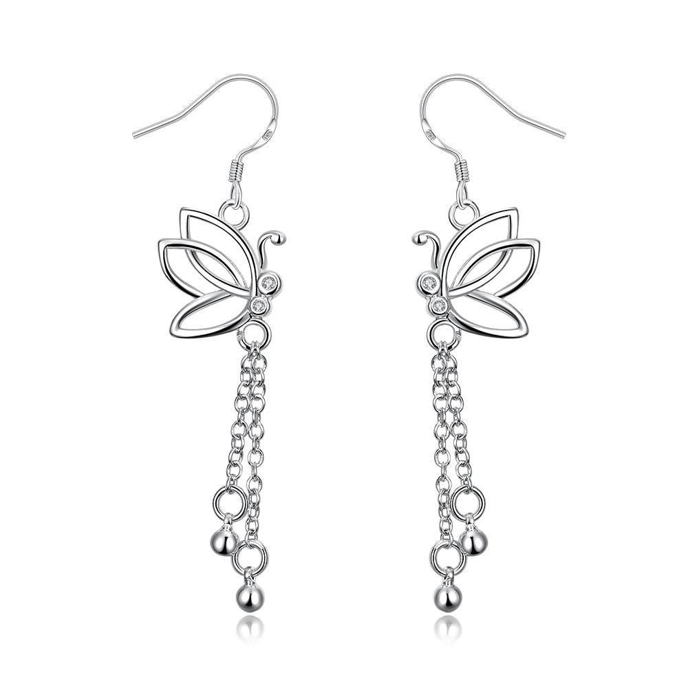 Vienna Jewelry Hollow Butterfly Dangling Jewels Earrings