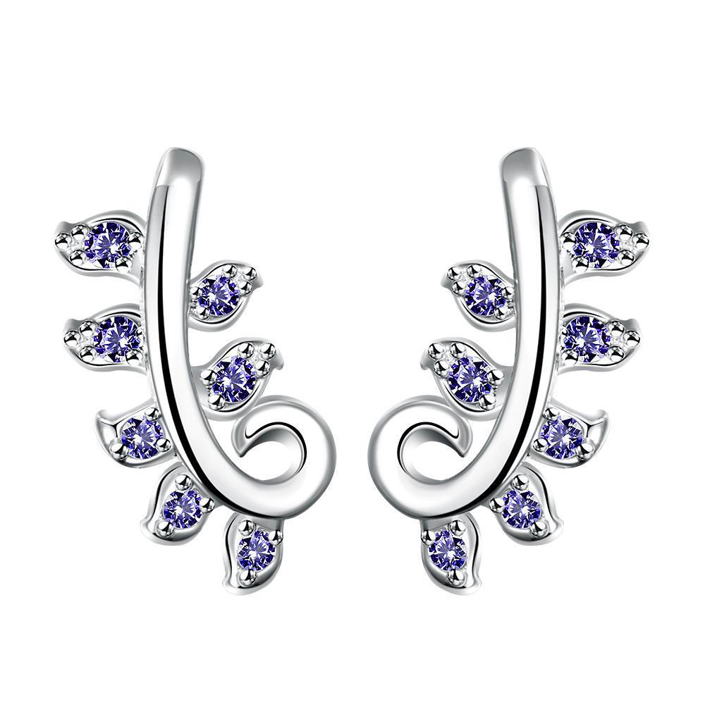 Vienna Jewelry Mock Sapphire Swirl Tree Branch Dangling Earrings