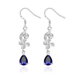 Vienna Jewelry Petite Mock Sapphire Gem Dangling Drop Earrings - Thumbnail 0